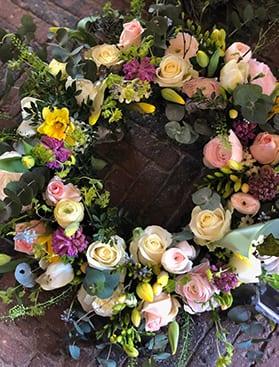Begravelseskrans farver