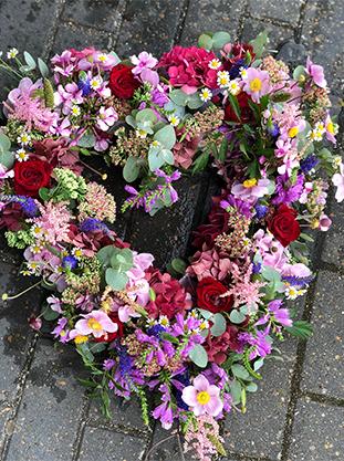 Begravelseskrans hjerte